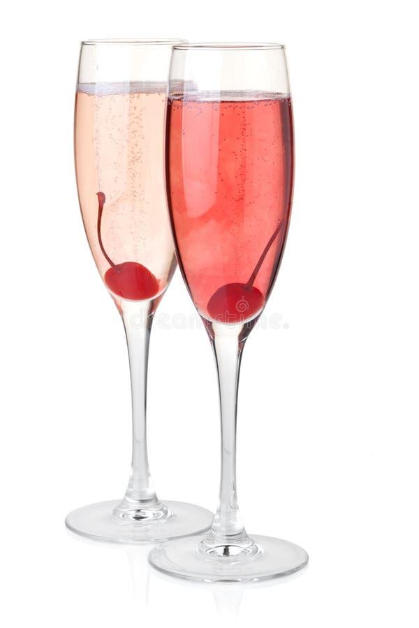 красный цвет шампанского поднял стоковое фото rf