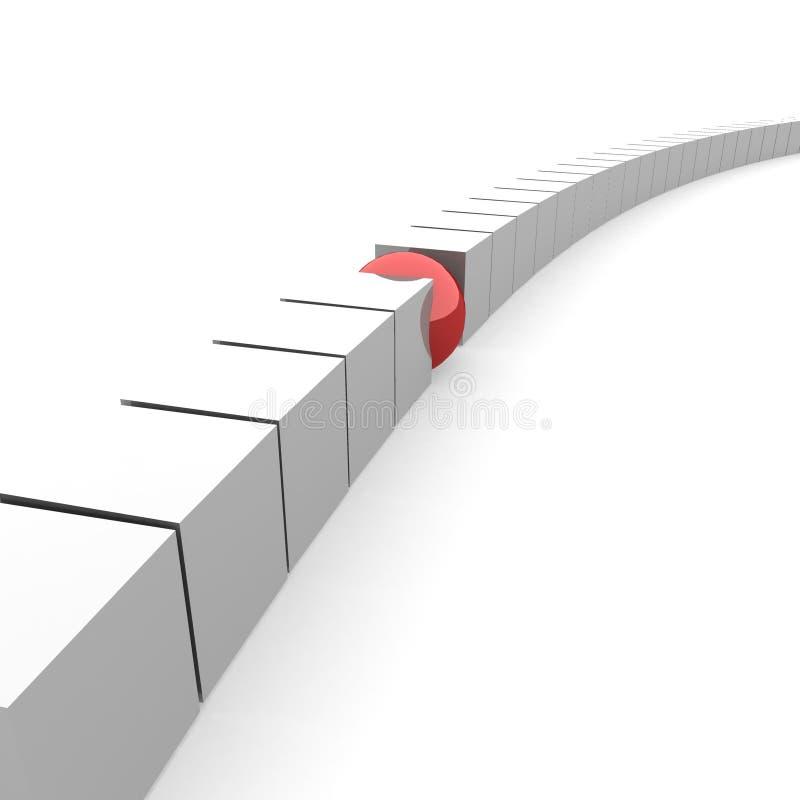 красный цвет шарика иллюстрация вектора