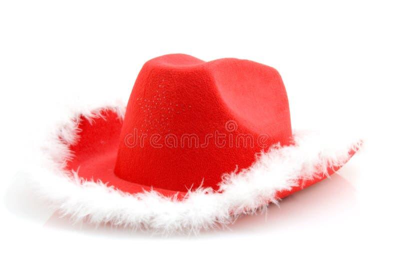 красный цвет шлема ковбоя рождества стоковое фото rf