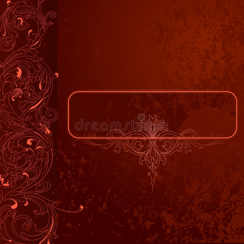 красный цвет шнурка grunge коричневого цвета знамени предпосылки бесплатная иллюстрация
