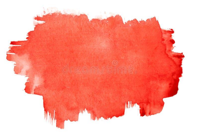 красный цвет щетки штрихует акварель стоковая фотография rf