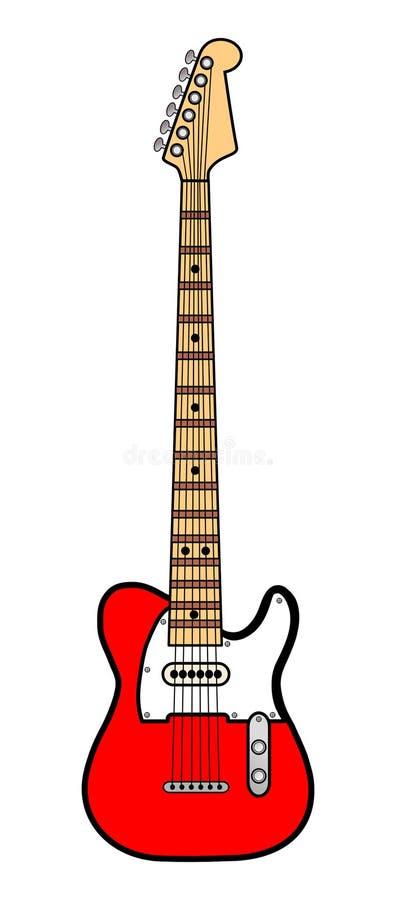 красный цвет электрической гитары стоковые изображения rf