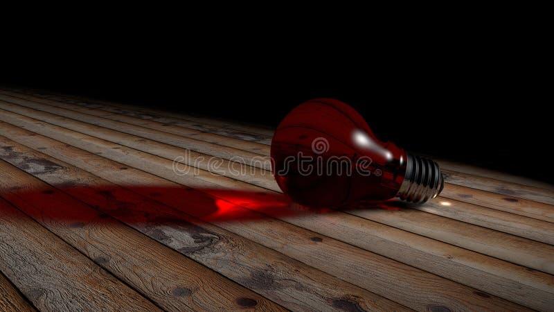 Красный цвет электрической лампочки стоковые изображения