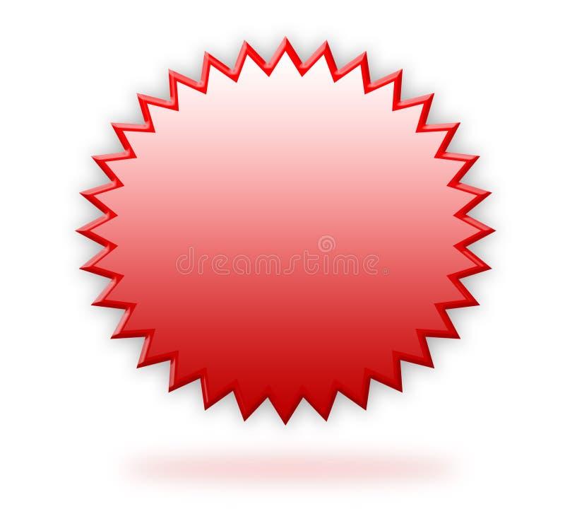 красный цвет ярлыка 3d иллюстрация вектора