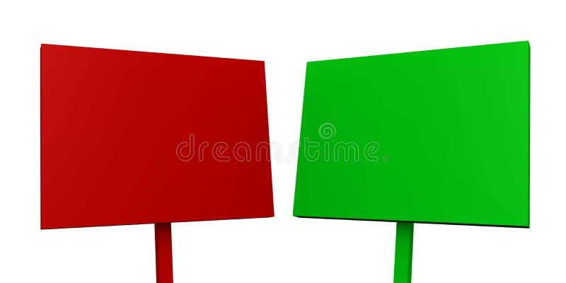 Download красный цвет 01 рекламируя доски зеленый Иллюстрация штока - иллюстрации насчитывающей плакат, двухсторонн: 18394473