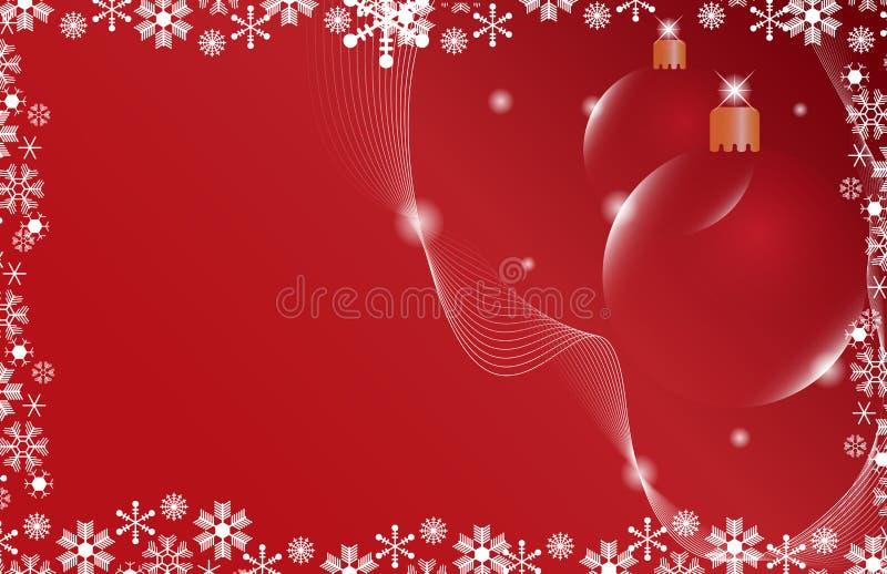 красный цвет 2 рождества шарика предпосылки бесплатная иллюстрация
