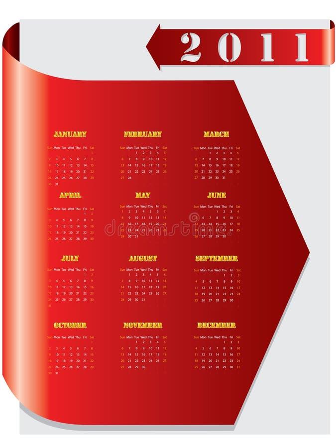 красный цвет 2011 календара стрелки бесплатная иллюстрация
