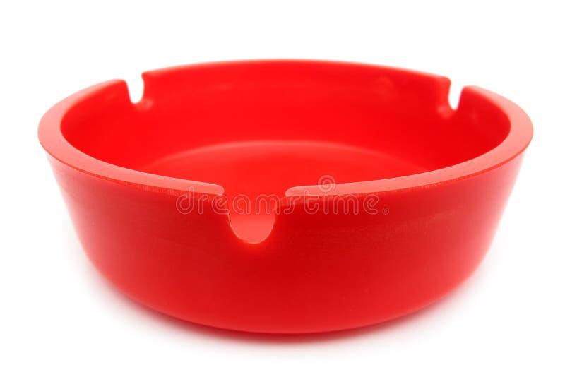красный цвет ashtray стоковые фотографии rf