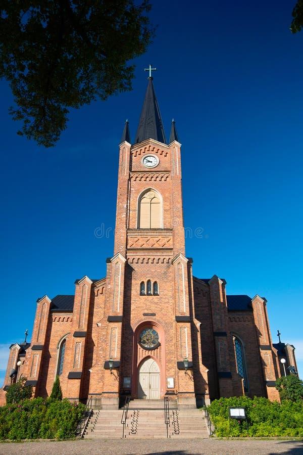 красный цвет bric церков старый стоковая фотография rf