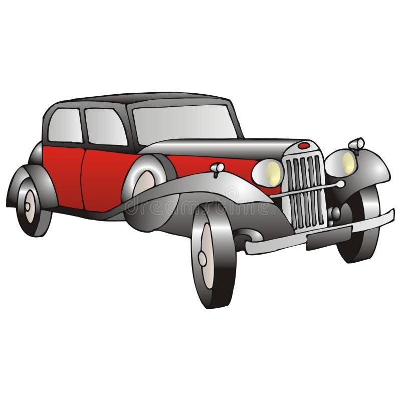 красный цвет cadillac иллюстрация штока