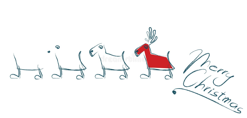 красный цвет caribou бесплатная иллюстрация