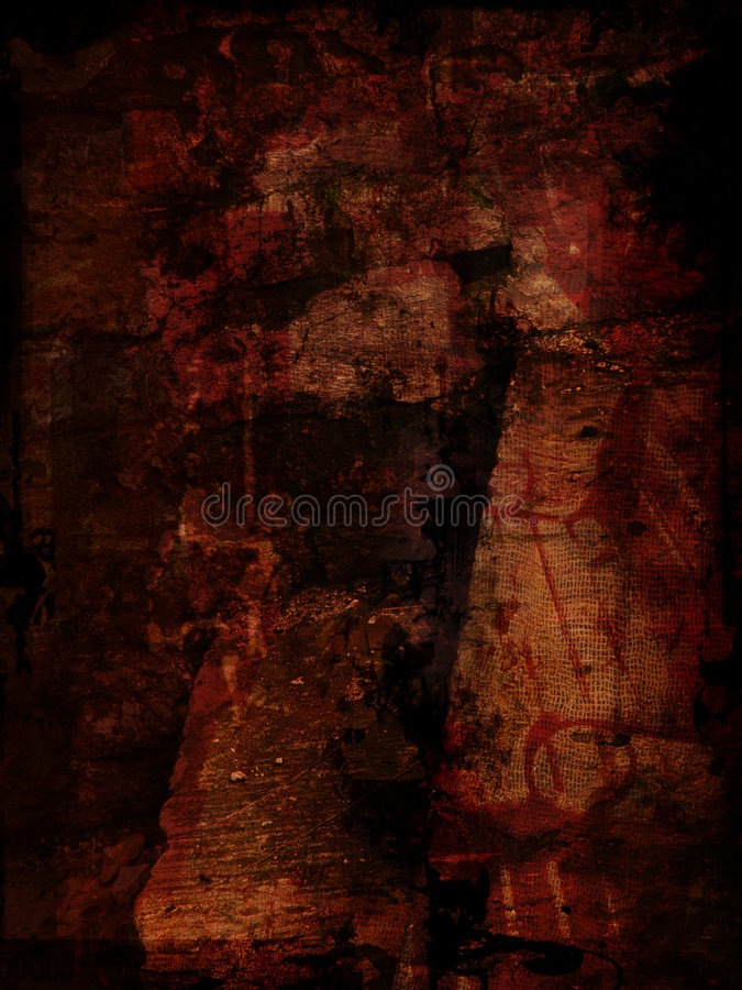 красный цвет grunge предпосылки иллюстрация штока