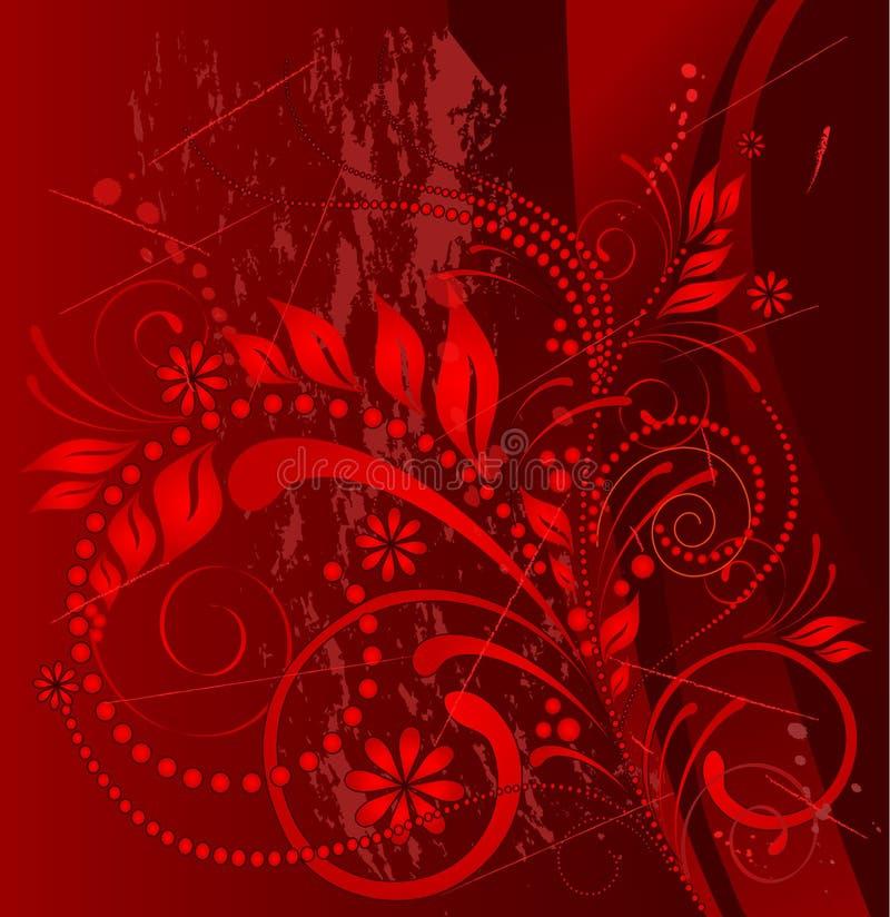 красный цвет grunge иллюстрация вектора