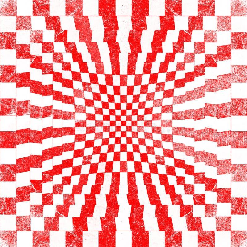 Красный цвет Grunge checkered иллюстрация штока