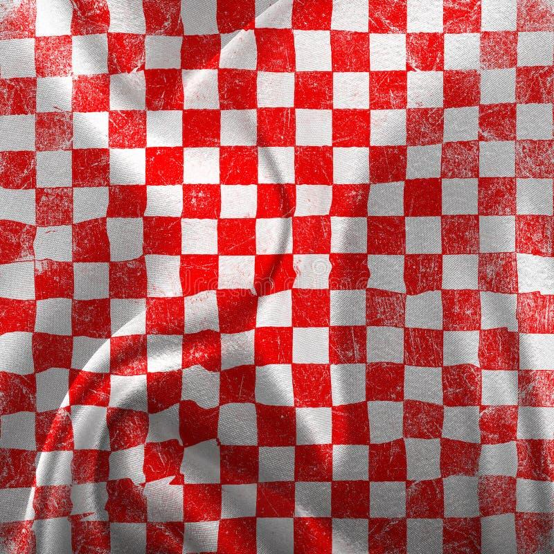 Красный цвет Grunge checkered иллюстрация вектора