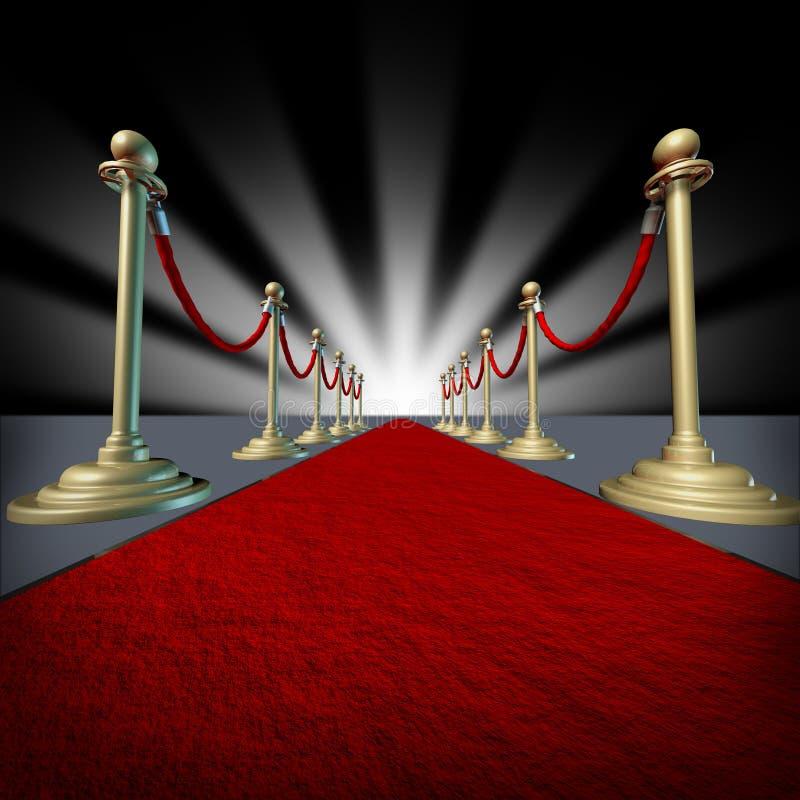 красный цвет hollywood ковра иллюстрация штока