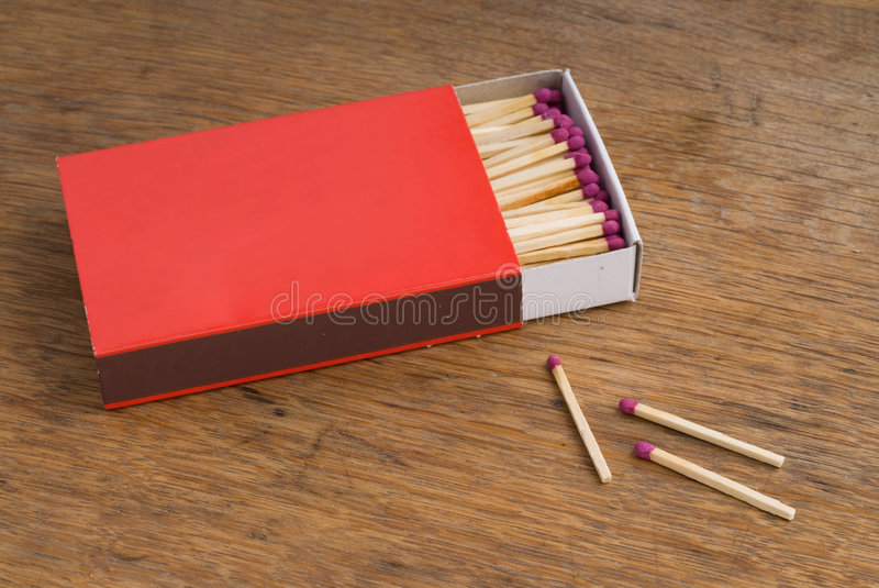 красный цвет matchbox стоковое изображение