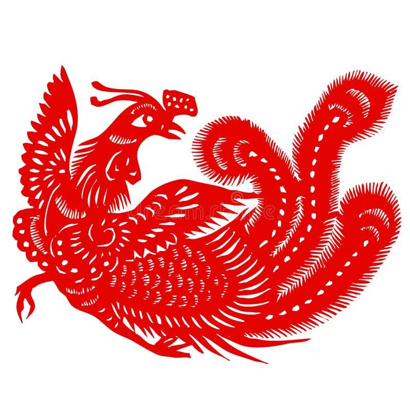 красный цвет phoenix иллюстрация вектора
