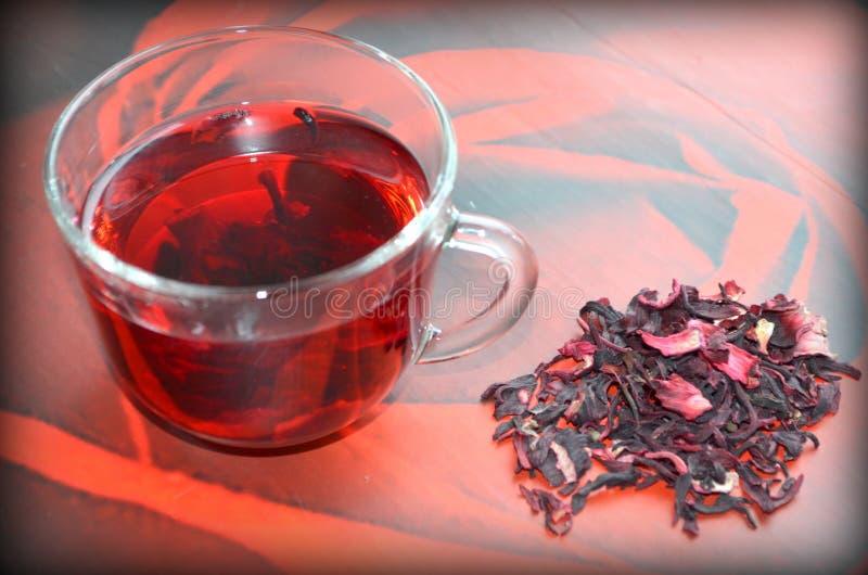 Красный чай гибискуса стоковая фотография