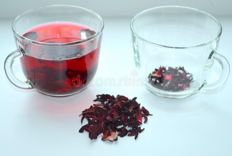 Красный чай гибискуса стоковая фотография rf