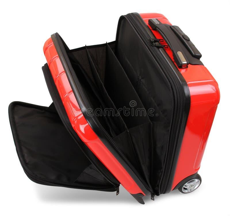красный чемодан стоковое фото