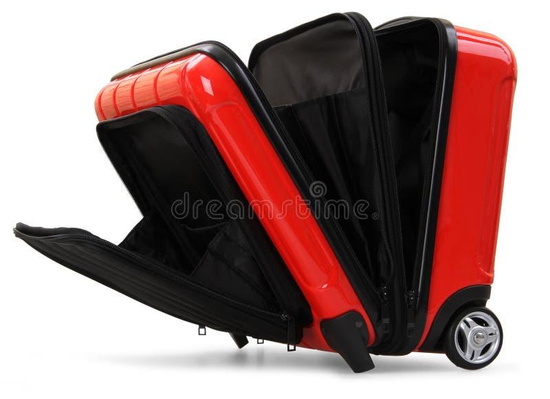 красный чемодан стоковые фото