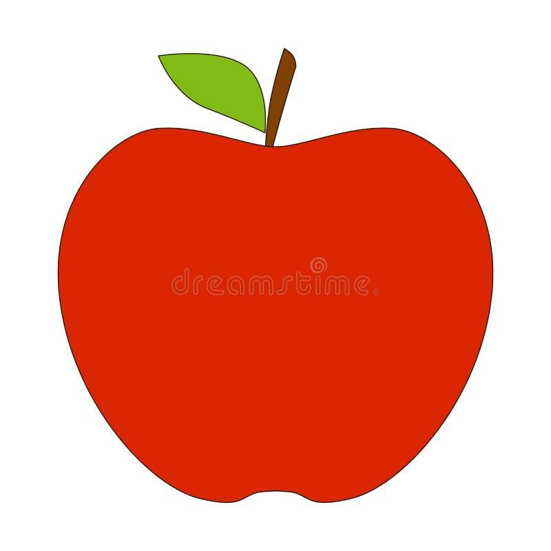 Красный шарж яблока иллюстрация вектора