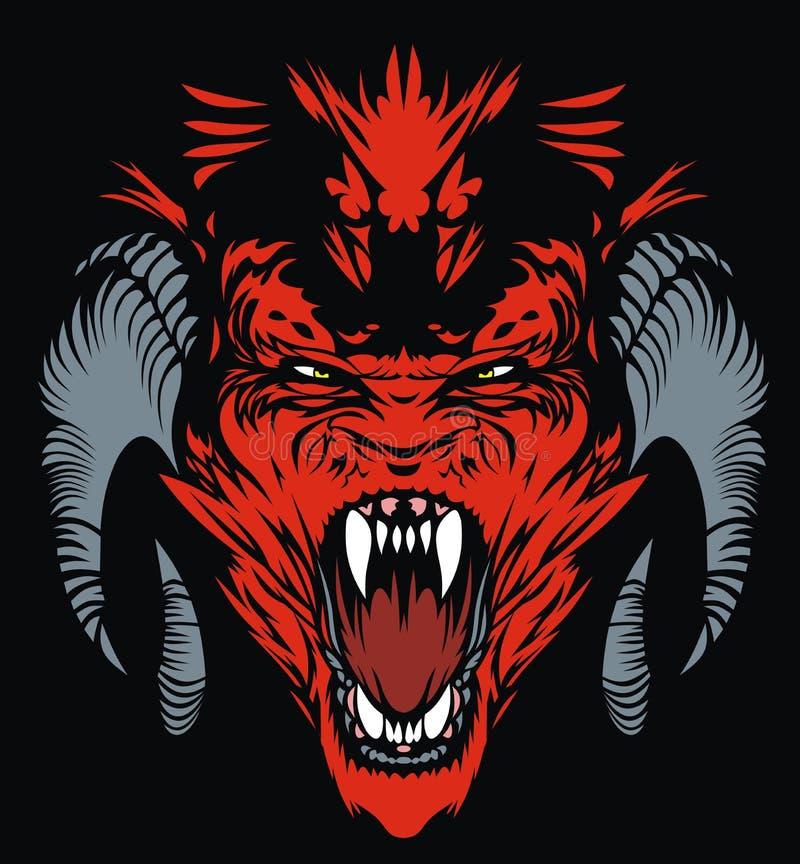 Красный дьявол бесплатная иллюстрация