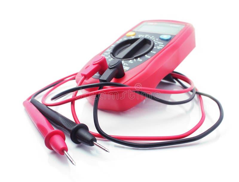 Красный электрический вольтамперомметр стоковые фотографии rf