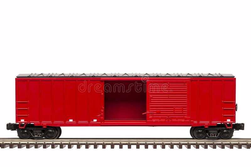 Красный Boxcar стоковое фото