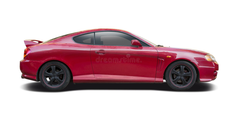 Красный coupe Hyundai стоковые изображения rf