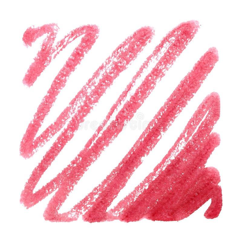 Красный doodle ручки отметки иллюстрация штока