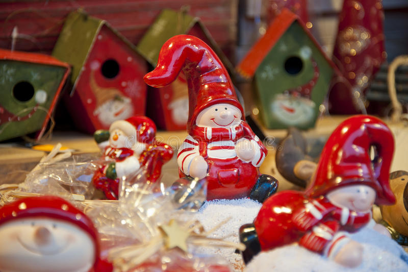 Красный gnome рождества стоковые фото