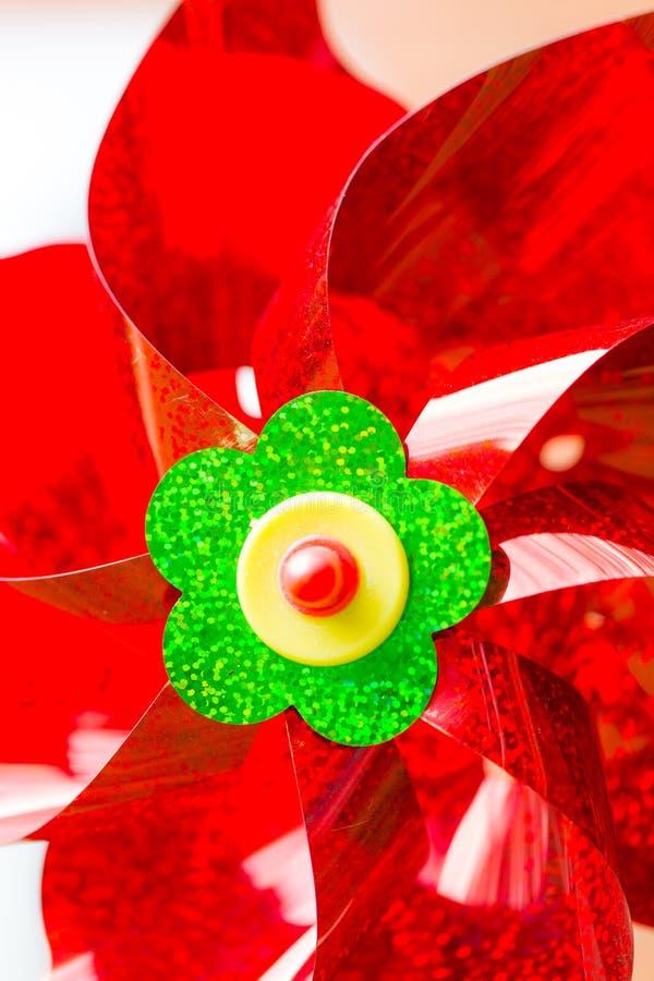 Красный pinwheel стоковые изображения rf