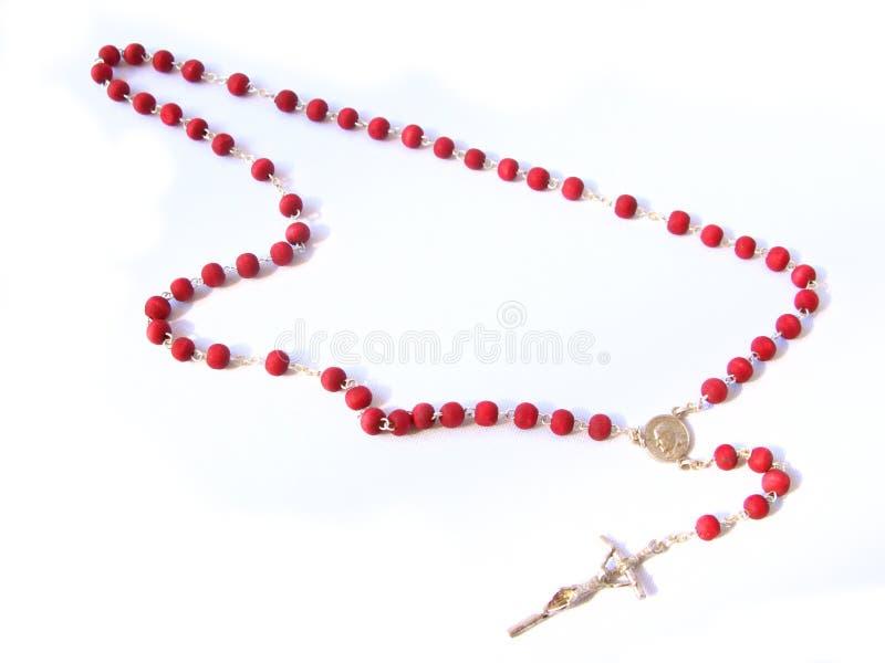 красный rosary стоковые фото