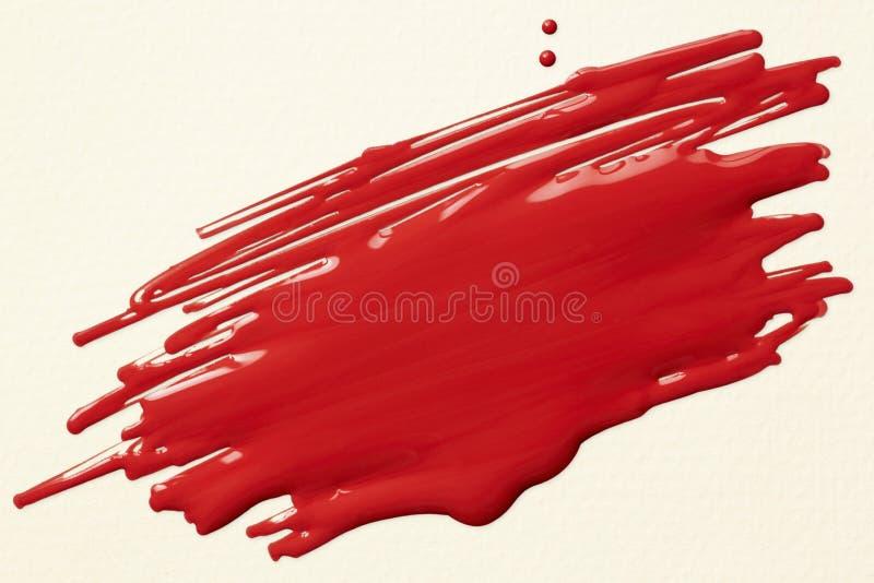 Красный scribble краски стоковое фото rf