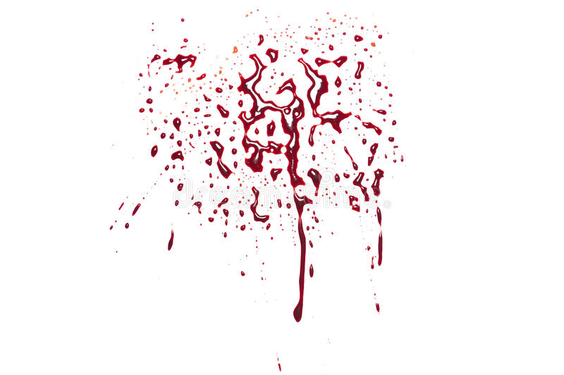 Красный splatter крови стоковые фото