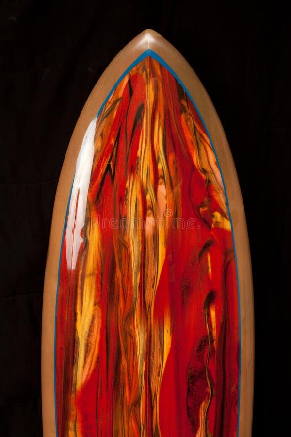 красный surfboard стоковые фотографии rf