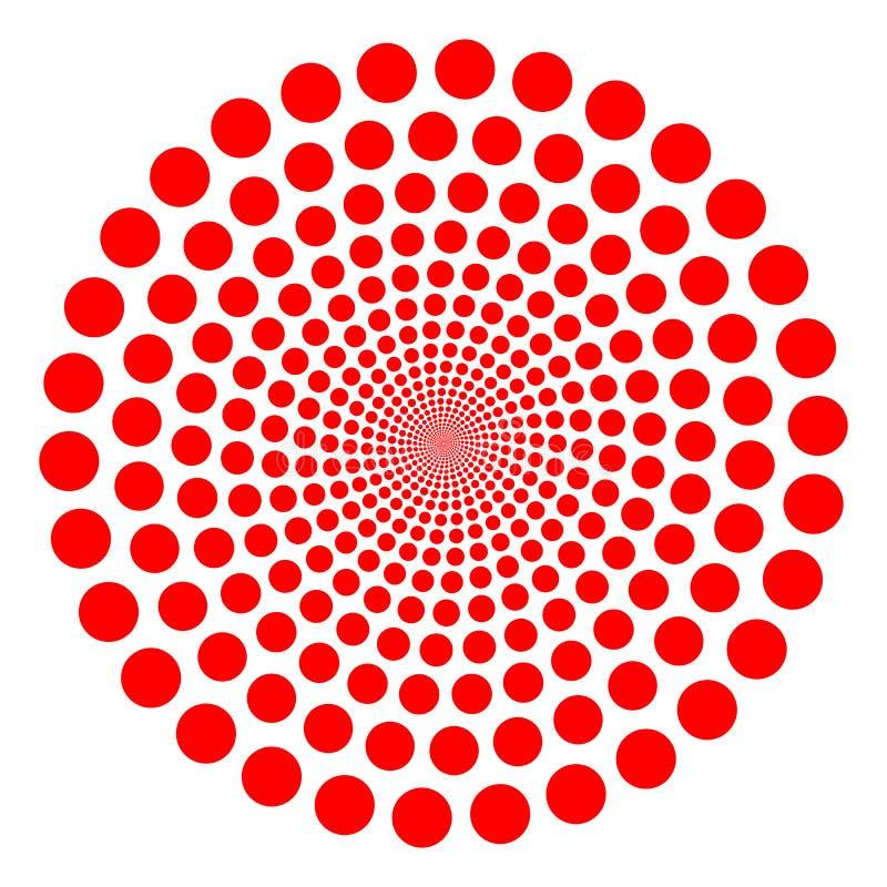 красный twirl иллюстрация вектора
