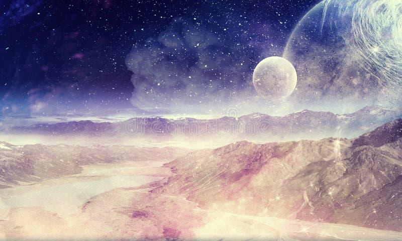 Красота галактики иллюстрация штока