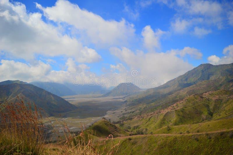 Красота горы Индонезии bromo стоковая фотография