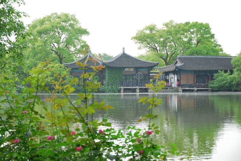 Красота западного озера в Ханчжоу стоковое изображение rf