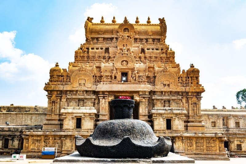 Красота индийского входа Tower2 виска - Thanjavur стоковое изображение rf