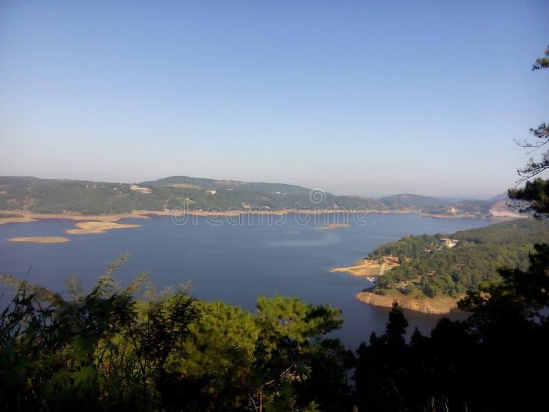 Красота и природа maghalaya Barapani shillong стоковое фото rf