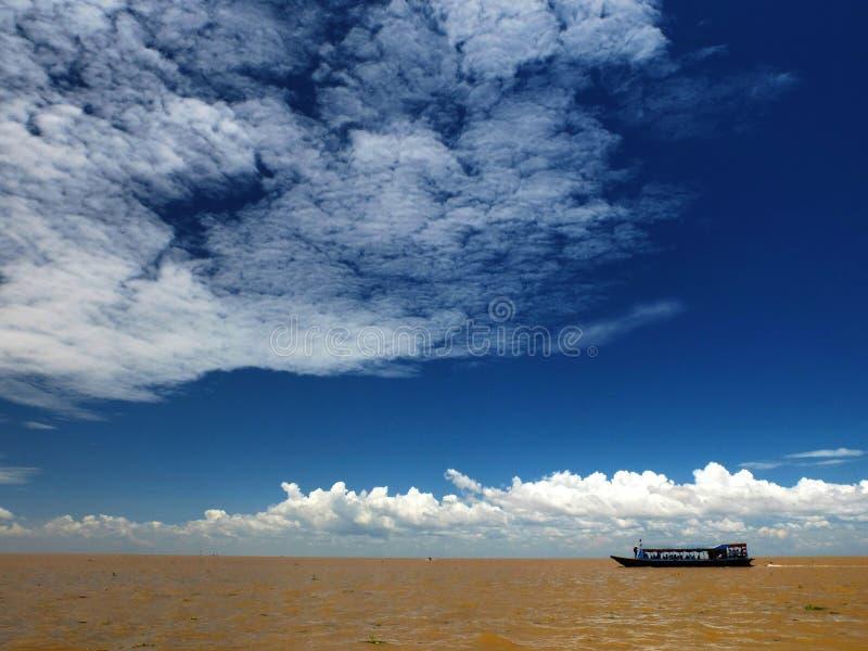 Красота озера маленький глоток Tongle в Siem Reap стоковая фотография rf