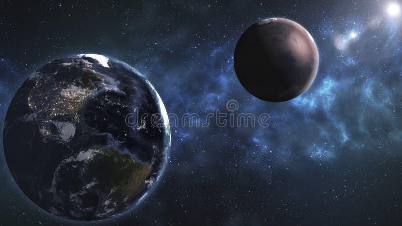 Красота, планеты, звезды и галактики глубокого космоса в бесконечном univer стоковая фотография rf