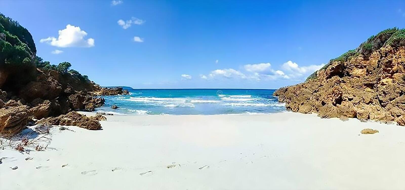 Красота пляжа в природе стоковые изображения rf