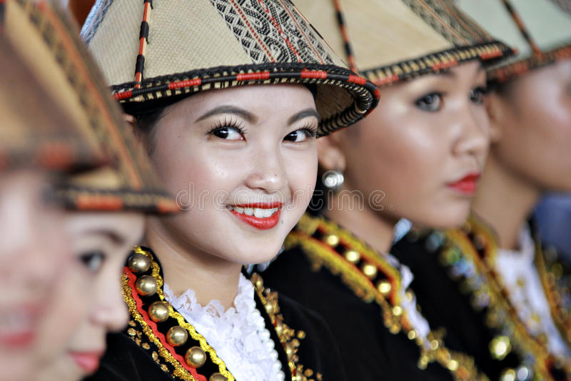 Красота Kadazan Papar стоковые фотографии rf
