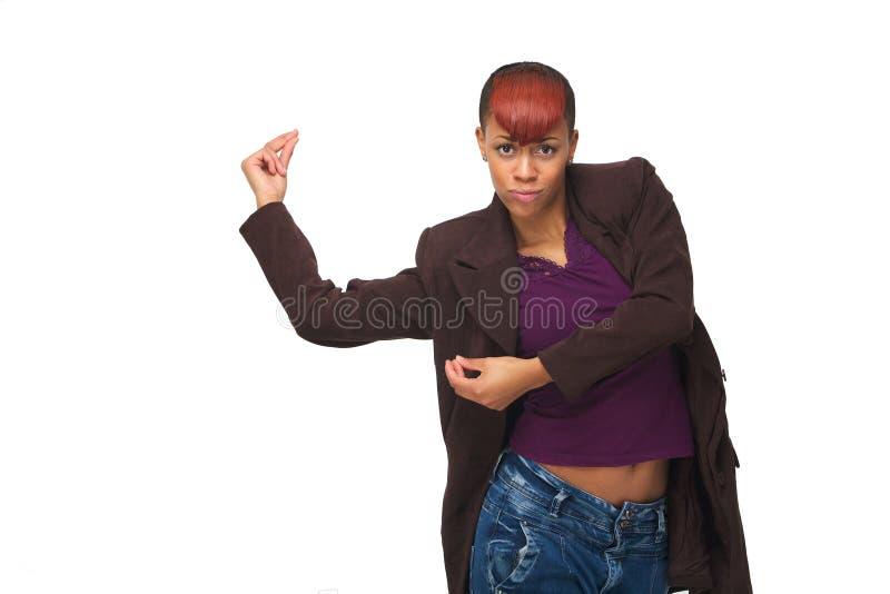 Красотка афроамериканца танцев стоковые изображения