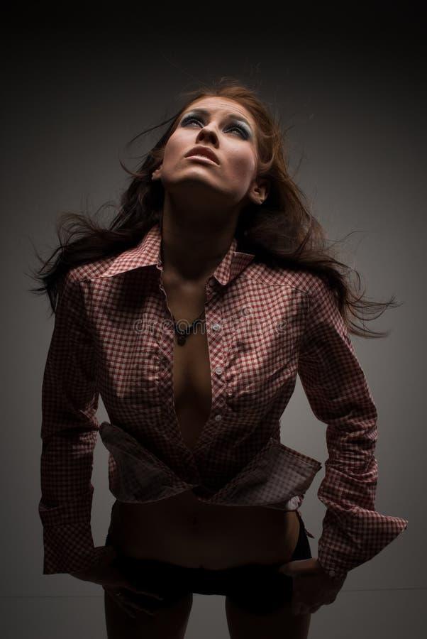 красотка модная стоковая фотография rf